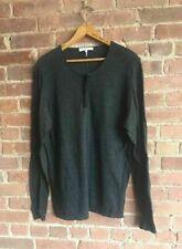 Sandro Paris Mens Henley Sweater Wool/Cashmere Blend, Size XL.