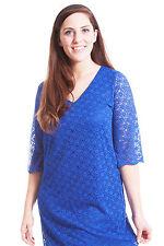 Lace V-Neck 3/4 Sleeve Plus Size Dresses for Women