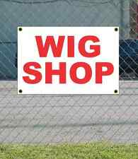 2x3 WIG SHOP Red & White Banner Sign NEW Discount Size & Price FREE SHIP