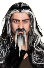 Schnurr und Kinn Spitzbart grau NEU - Karneval Fasching Bart Verkleidung