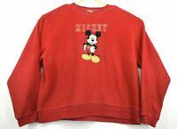 Vintage Disney Mickey Unisex Size XL 100% Polyester Sweatshirt Pullover Sweater