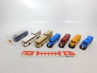 CA390-0,5# 7x Brekina 1:87/H0 Bus Mercedes/MB: 5205 + O 317 + O 5000, sehr gut