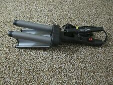 REVLON JUMBO CERAMIC 3 BARREL WAVER CRIMPER CURLING IRON MODEL
