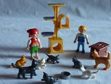 PLAYMOBIL accessoires animaux personnages maison fillette arbre à chats