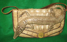 Crocodile 1930's RARE Purse with Taxidermy
