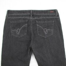 Bongo Juniors Size 13 Zip Fly Stretch Waist Straight Leg Black Denim Jeans