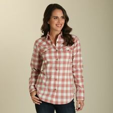 Wrangler Women's Dark Pink & White Plaid Snap Up Western Shirt LW7213M