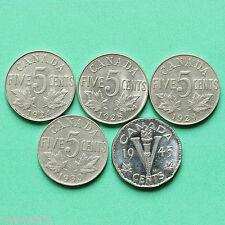 1924 - 1928 - 1929 - 1930 - 1945-Canada 5 5 CENTESIMI SNo36986