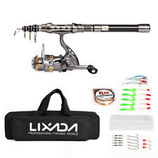 Telescopic Spinning 1.5M Fishing Rod Reel Combo Tackle Saltwater Freshwater I3A8