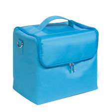Extra Large Space Blue Beauty Bag Make up Nail Tech Cosmetic Box Vanity Case
