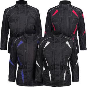 Motorradjacke mit Protektoren Herren Textil Motorrad Jacke Roller Gr. M bis 6XL