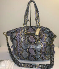 COACH POPPY EMBOSSED EXOTIC XL SPOTLIGHT 15329 Python Print Bag ~RARE!!!