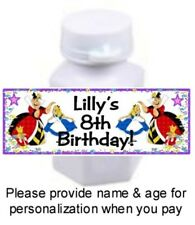 30 Alice In Wonderland Birthday Party Or Baby Shower Stickers For Mini Bubbles