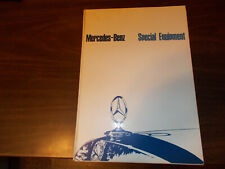 """1966 Mercedes Accessories """"Special Equipment"""" 32-page Catalog"""