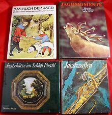 4 x Bücher über Jagd, Weidmannskunst, Jagdfotografie Jäger Waffen Sammlung Paket