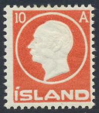 Iceland Scott 93/Facit 115, 10 aur red Frederik VIII, F fresh mint H