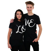 LOVE T-shirts Wedding Honeymoon Couples Valentines Day Gift Idea His Hers Cute