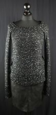 Holographic sequinned black sparkly knitwear