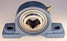 """Premium 1-1/8"""" Square Bore Disc Bearing Unit GW208PPB5 + P208   Tufline# TPBT60"""
