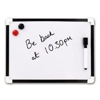 A4 MAGNETIC MINI WHITE BOARD MAGNETIC DRY WIPE PEN & ERASER MEMO SCHOOL OFFICE