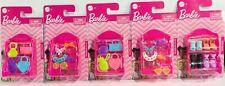 Lot Of 5 Packs Barbie Doll Fashion Accessories Handbags Shoes Headbands Shelf u