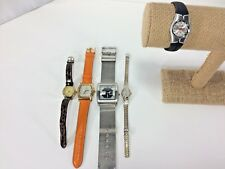 Ladies Watch Lot Bijoux Terner Mossimo Cardinal Caprice Fashion Works Lot of 5