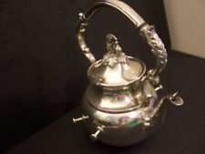 SILVERPLATE ON COPPER TEAPOT HOTEL  1950'S   3 POUNDS HEAVY DUTY COMMERCIAL
