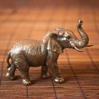 Bronze Effect Elephant Ornament African Sculpture Statue Decoration Unique Decor