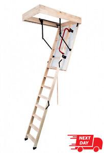 WOOD TIMBER FOLDING LOFT LADDER & HATCH 55CM X 110CM (H-280CM)Termo Attic Stairs