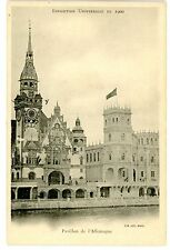 Paris France-PAVILLON L'ALLEMAGNE-EXPOSITION UNIVERSELLE 1900-Postcard Germany