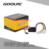 GoolRC 60A Waterproof Brushed ESC Speed Controller for 1/10 4WD RC Car Buggy