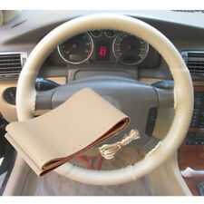 Car Steering Wheel Cover DIY Genuine Leather Cowhide Braid With Needles Thread