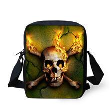 Men Cool Skull Messenger Bag Small Satchel Purse Shoulder Cross Body Bags Boy