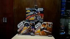 STAR WARS: Anakin's Jedi starfighters and  V- WING Starfighter vehicles Lot 3.