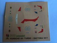PORSCHE 911 TURBO DAYTONA 1977 DECALS decal 1/43