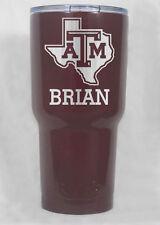 Non YETI unbraned by HOGG 30 oz Texas A&M Aggies   tumbler laser engraved