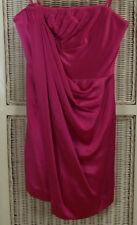 "BCBG MAX AZRIA Strapless Draped Dress 2 / 28"" Bust Fuchsia Pink Cocktail Party"
