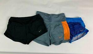 Nike Dri Fit Infiknit Crew Mid Shorts S Small Navy Black Gray Fold Over Waist