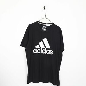 ADIDAS Big Logo T Shirt Tee Black | XL