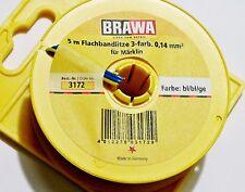 BRAWA 3172 3 wire 0,14 mm², 5m for Märklin Turnouts, Signals, blue/blue/yellow
