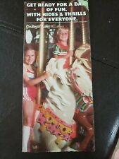 1970s/80s Geauga Lake Ohio Amusement Theme Park Brochure Map Guide Pamphlet