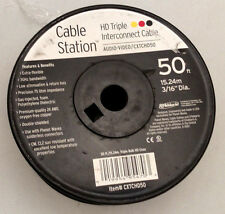 50' TRIPLE BULK HD COAX WIRE CXTCHD50 CABLE HD DIGITAL ANTENNA