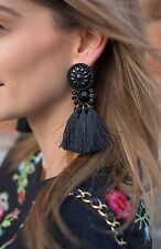 H&M BLOGGERS TASSEL NAVY BLUE EARRINGS NEW SOLD OUT