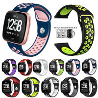 Silicone Sport Band with Ventilation Holes Large Fitness Straps for Fitbit Versa