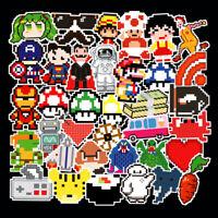 50Pcs Pixel Stickers Bomb Vinyl Skateboard Luggage Laptop Sticker Dope Decal Lot