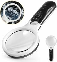 Magnifying Glass with Light, Led Illuminated Magnifier, 3X 45X Magnification,