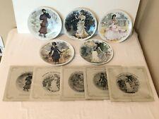 D'Arceau Limoges La Femmes du Siecle Set of 5 Collector Plates Fr Ganeau