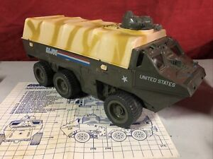 Vintage GI Joe APC Vehicle W/ Blueprints ARAH 1983