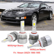 vintage car truck parts for dodge 4pcs led headlight kit 9005 9006 bulb fit nissan 300zx 1996 1995 hi