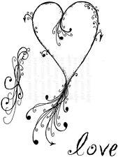 Sweet Dixie Clear Stamps Tattoo Heart Lindsay Mason love scroll cardmaking
